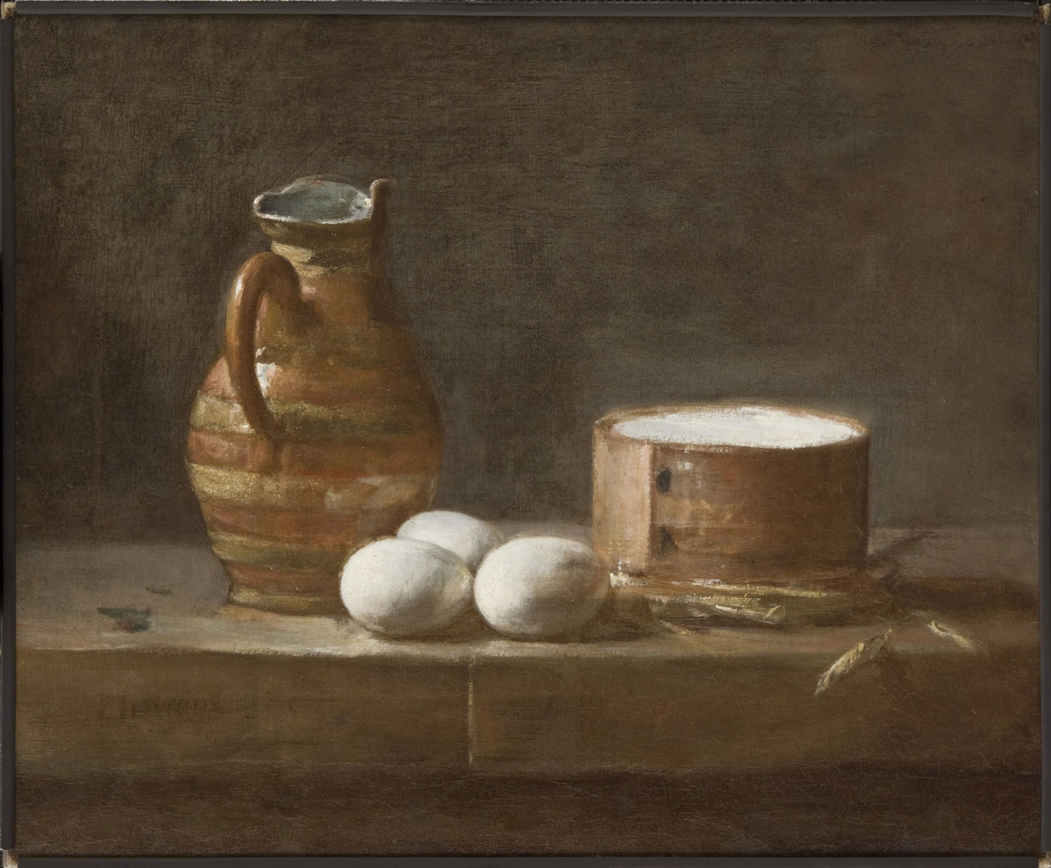 Still Life with Eggs, Cheese, and a Pitcher