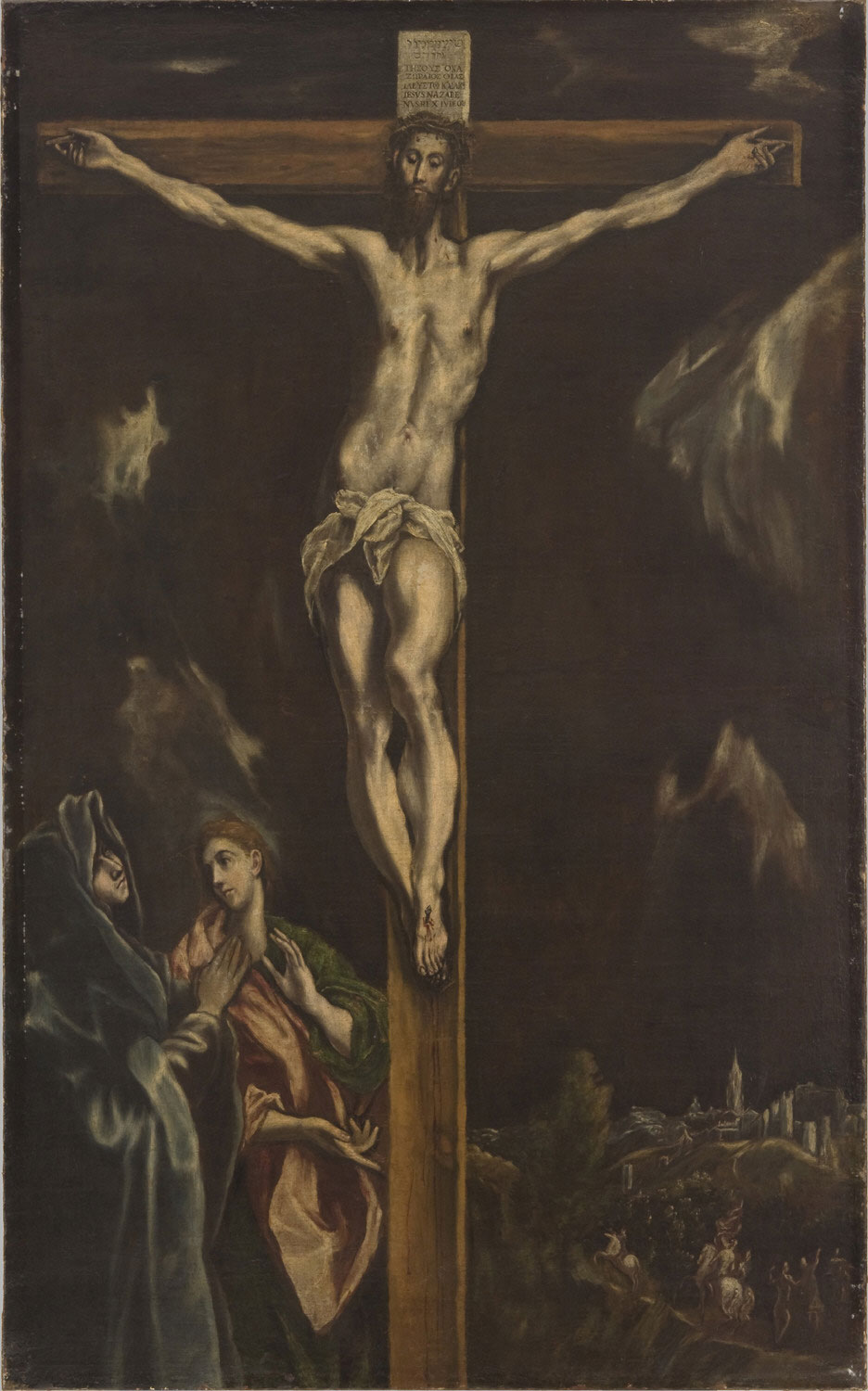 Crucifixion with the Virgin Mary and Saint John the Evangelist