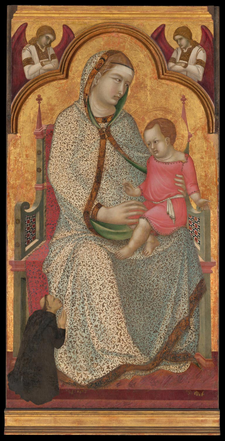 Virgin and Child Enthroned and a Servite Friar, with Angels