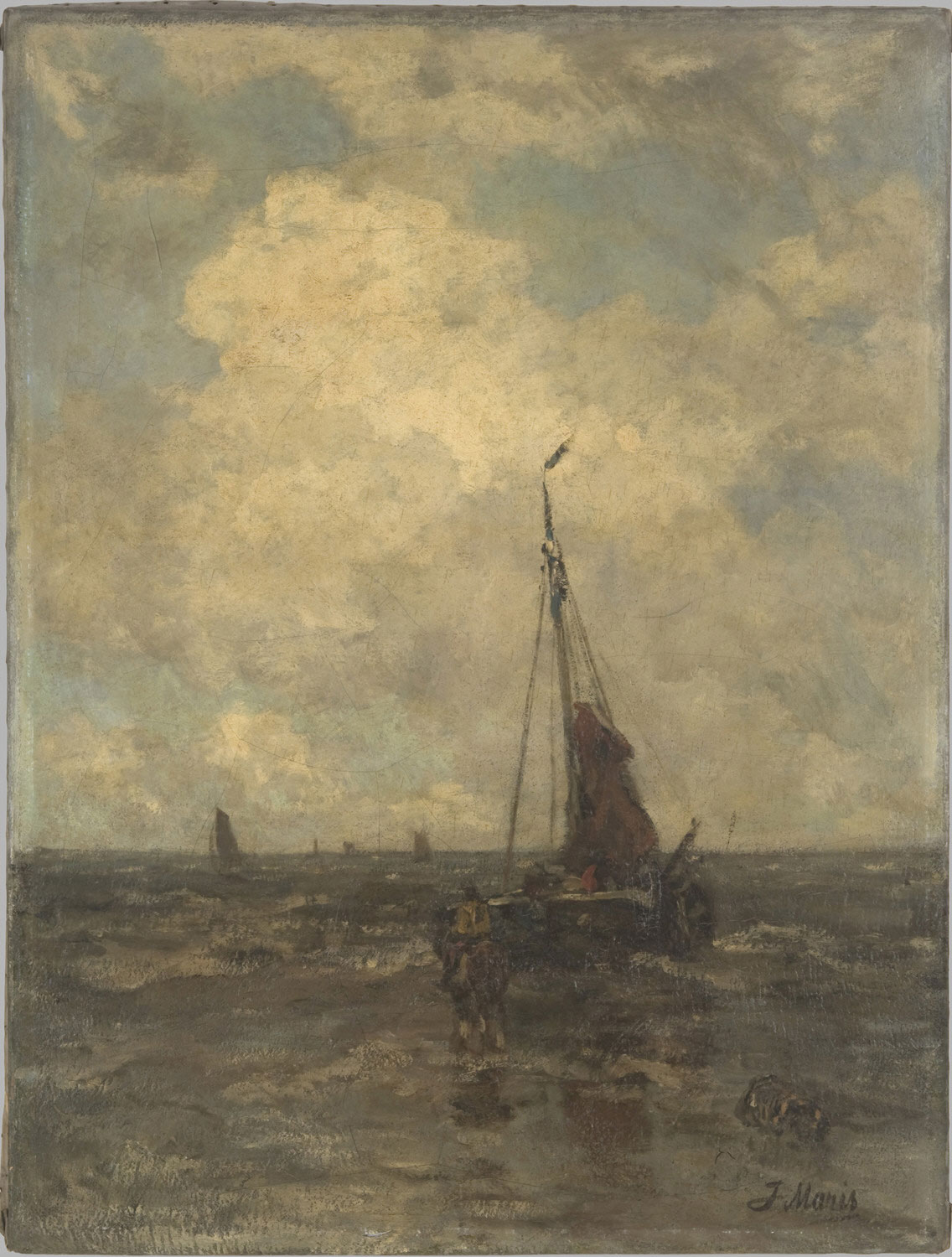A Fishing Boat with a Horse on the Beach, Sheveningen