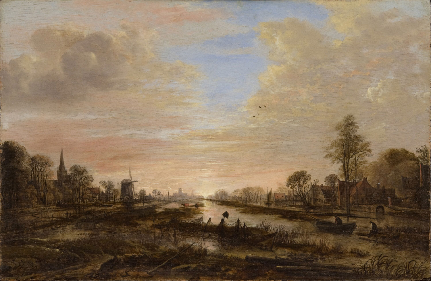 Landscape with a River at Twilight