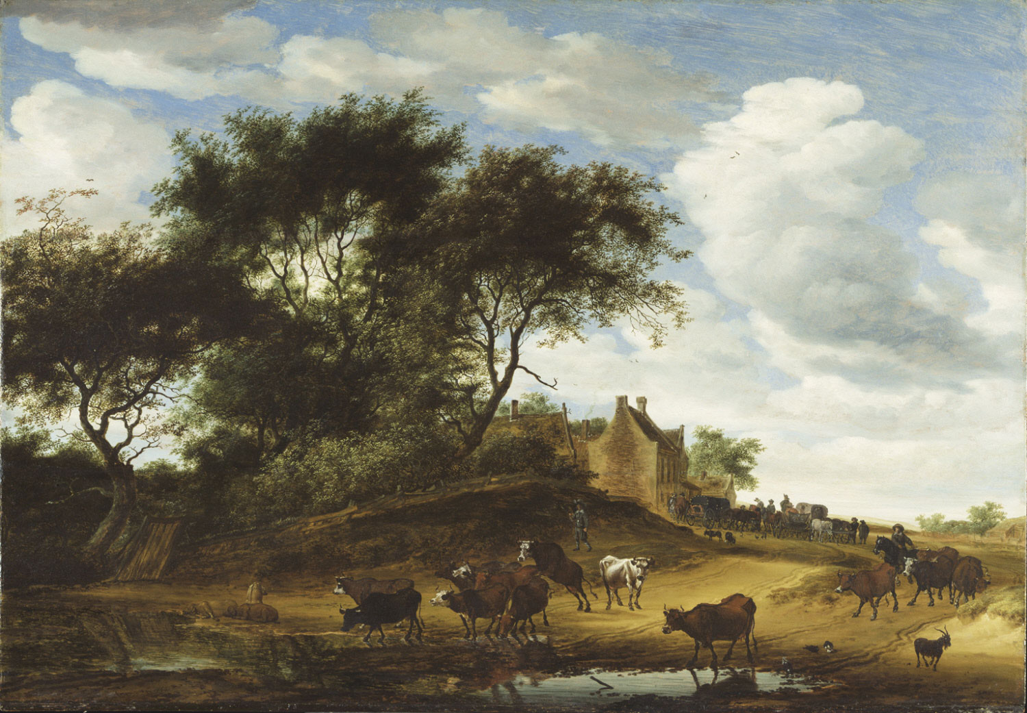 Landscape with Cattle and an Inn