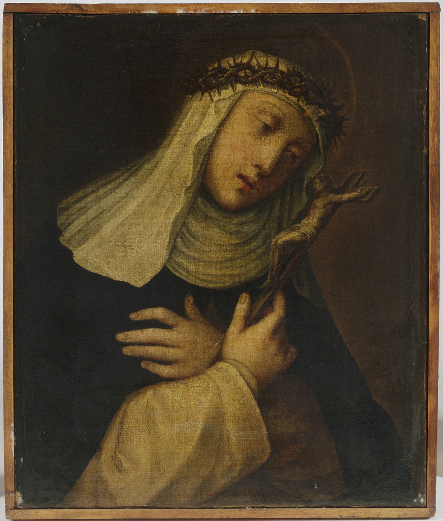 Saint Catherine of Siena with a Crucifix and a Crown of Thorns