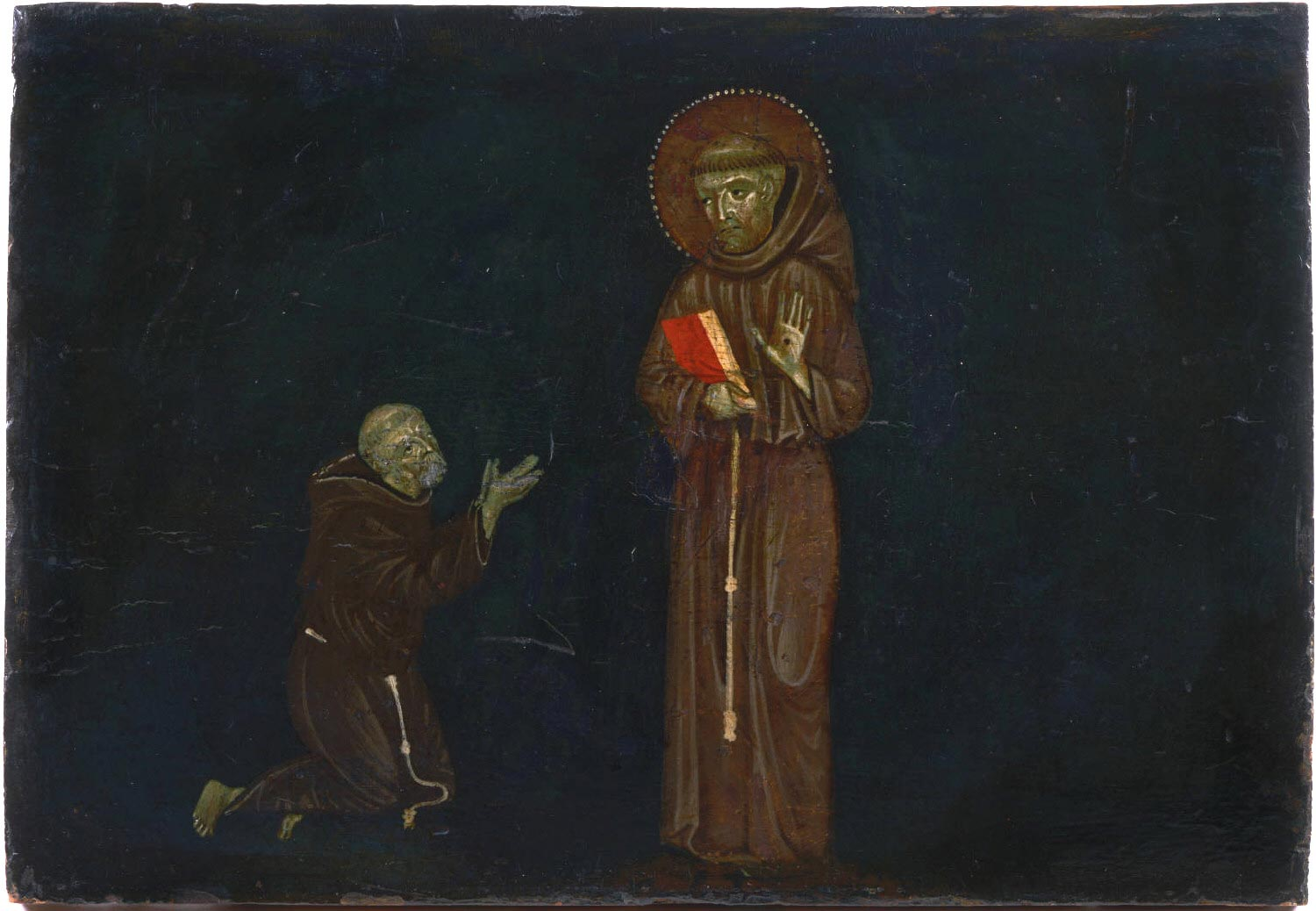 Saint Francis of Assisi and a Devotee