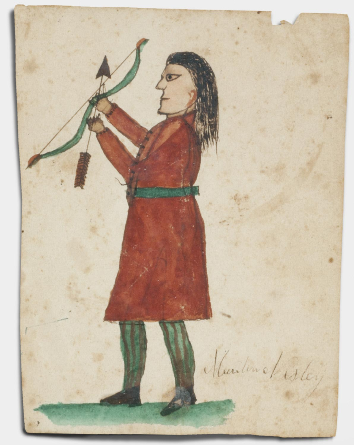 Portrait of a Man with Bow and Arrow for Martin Nisley