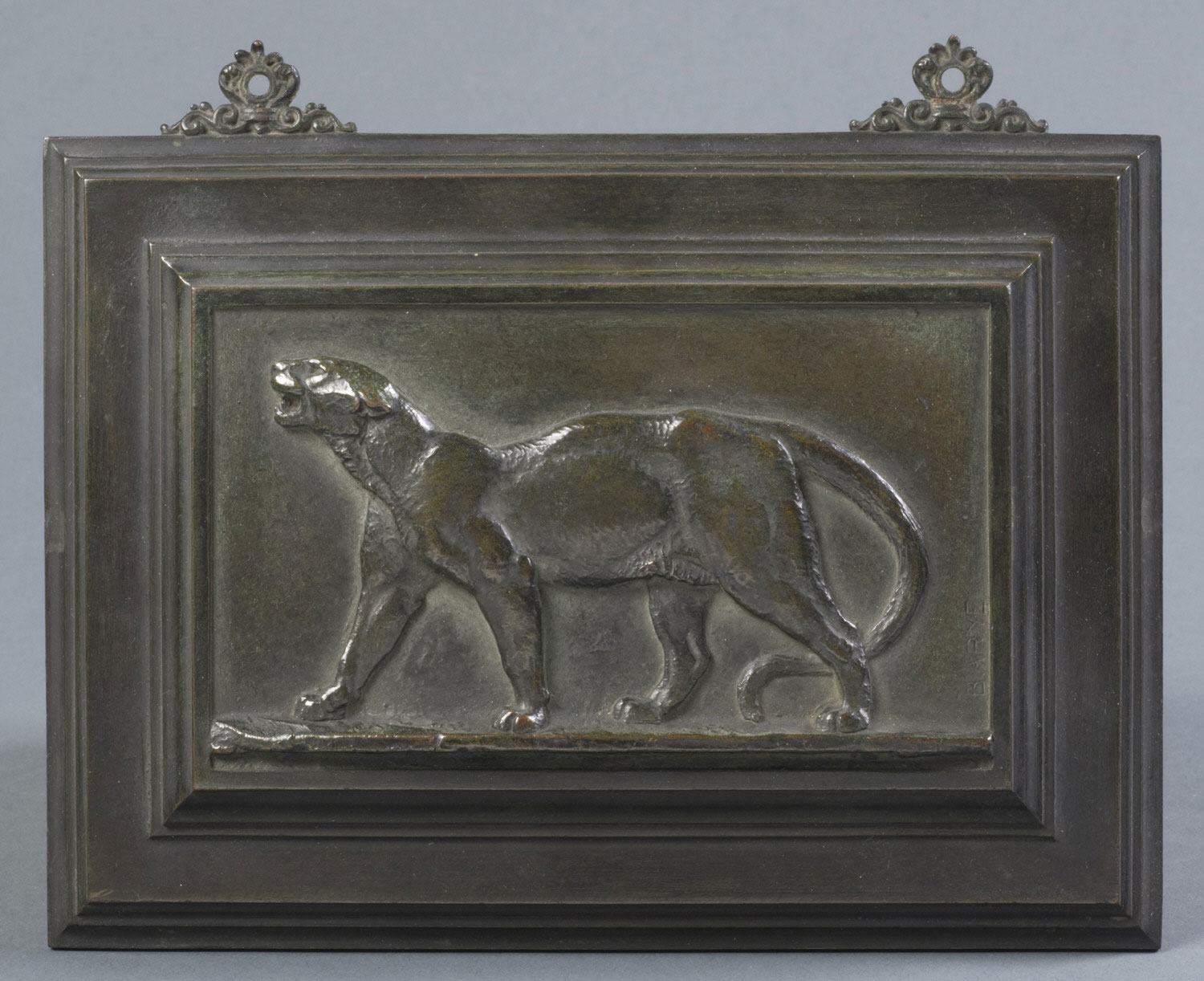 Bas-relief of a Leopard