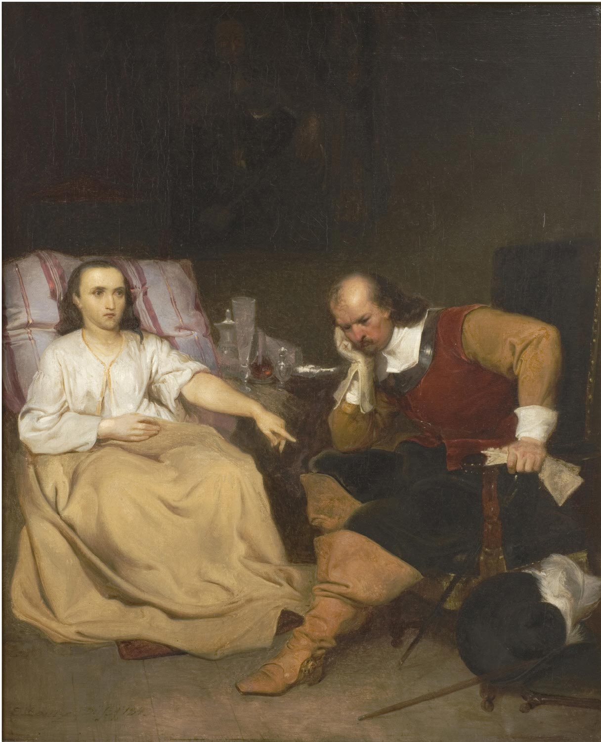 Oliver Cromwell and His Daughter