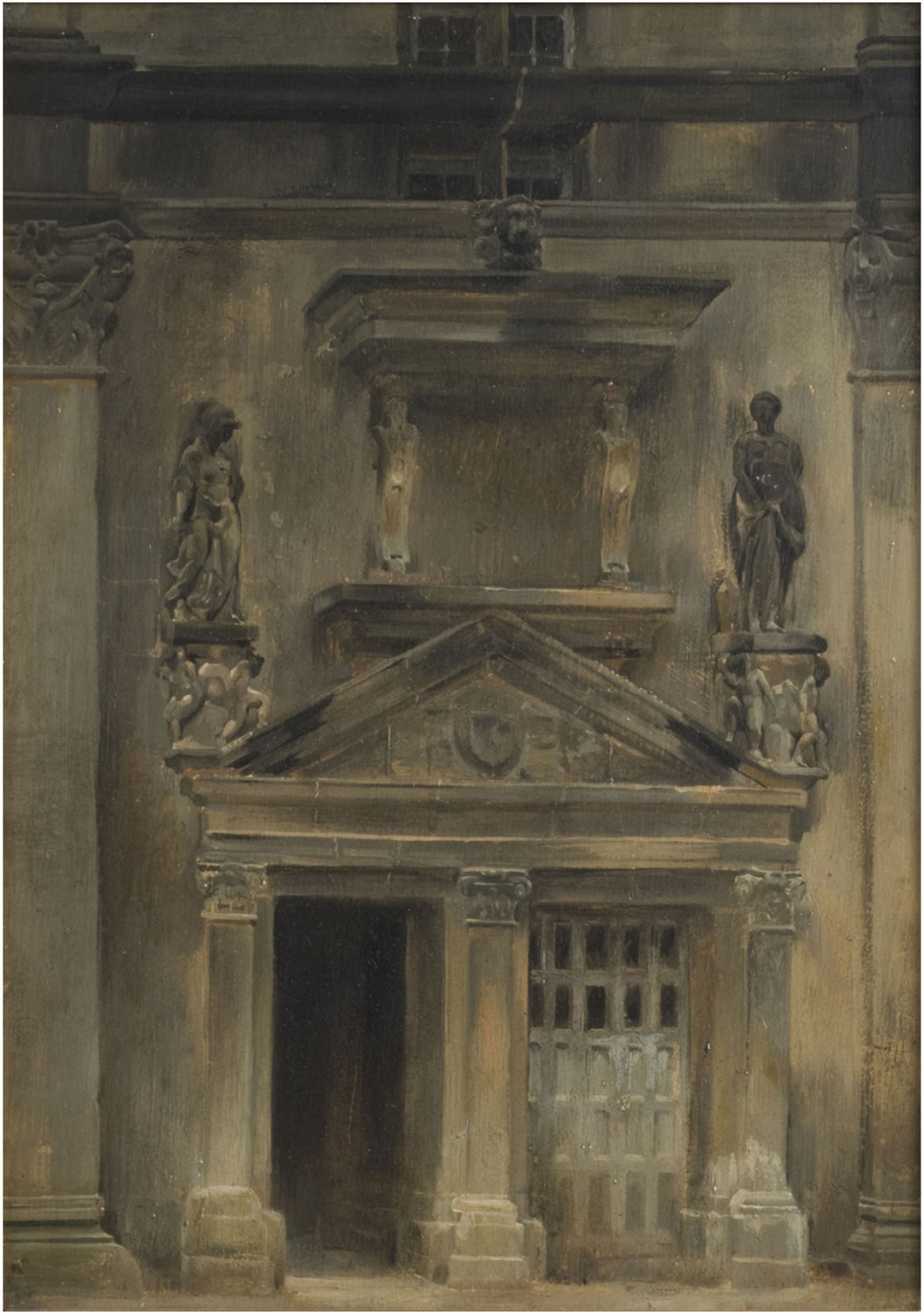 Architectural Study (Door of the Francis I Staircase, Oval Court, Fontainebleau)