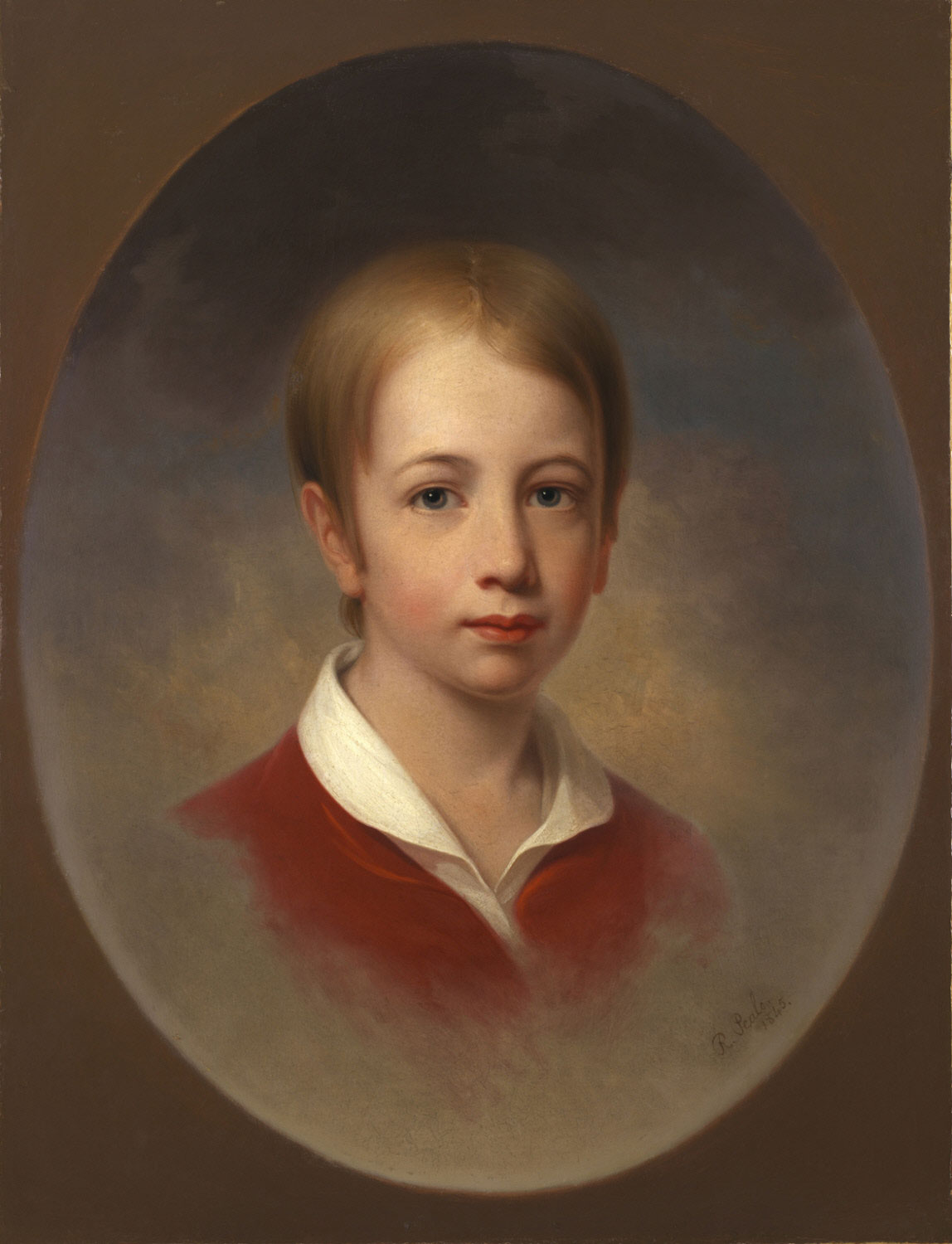 Portrait of a Boy in a Red Jacket