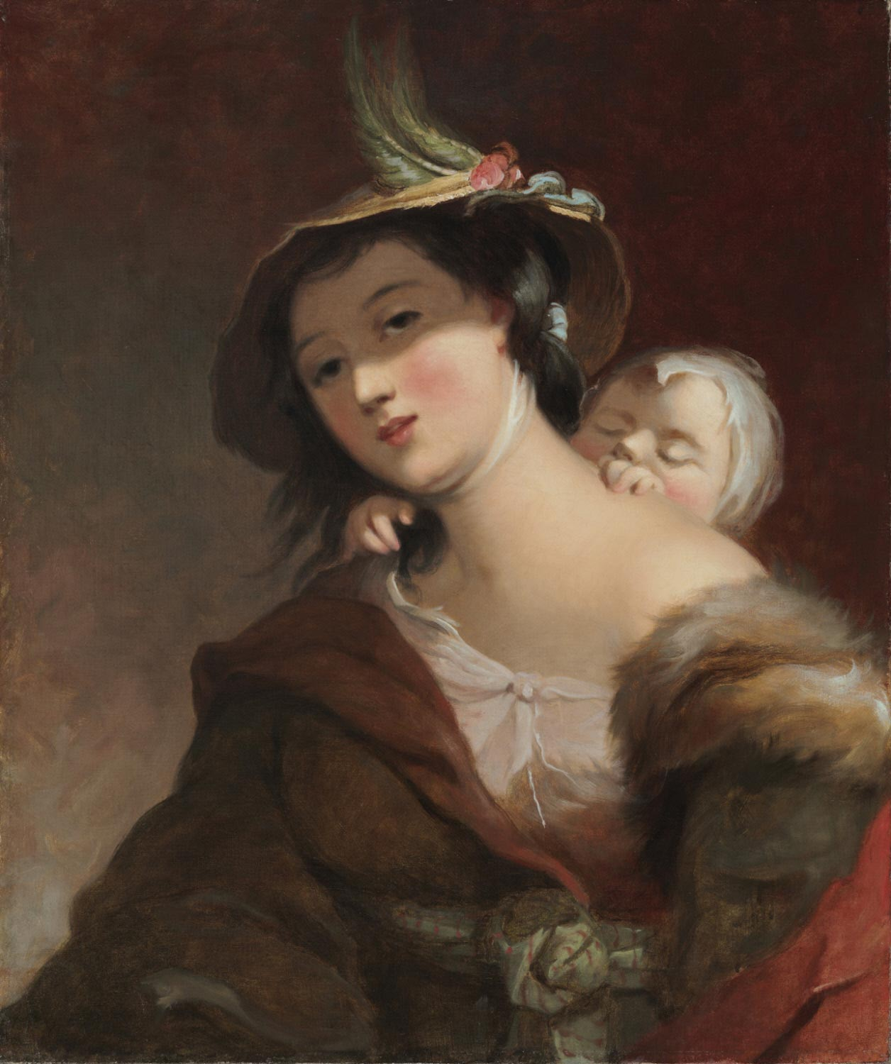 Gypsy Woman and Child, after Murillo