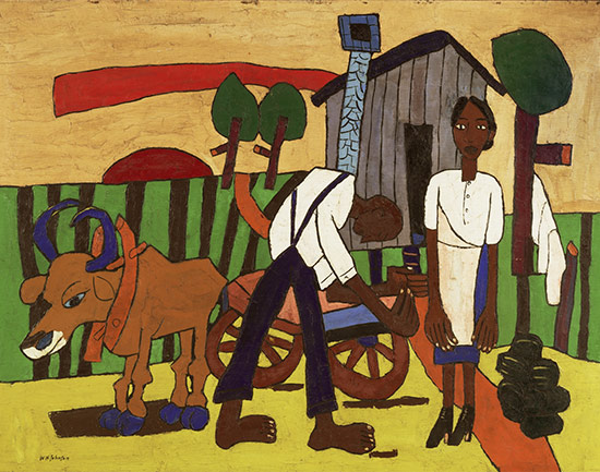 Farm Couple at Work (Couple with Ox Cart)