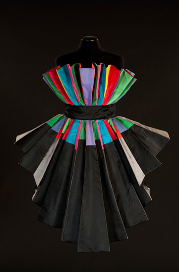 Sculpture Dress, 1989, silk taffeta (N.231)
