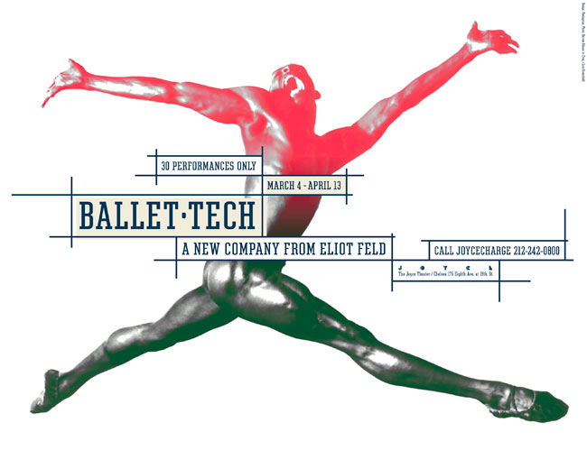 Ballet Tech Poster, 1997, designed by Paula Scher